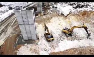 Aktuálne zábery z výstavby diaľničného úseku D1 v okolí obcí Turie a Višňové