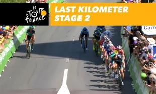 VIDEO: Saganov skvelý finiš v druhej etape Tour de France 2018 a zisk žltého dresu