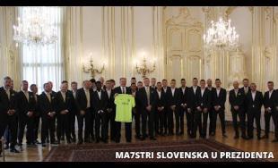 Futbalisti MŠK Žilina na návšteve v prezidentskom paláci