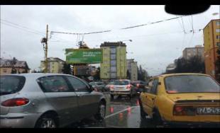 Kolaps dopravy v Žiline - 22.12.2014