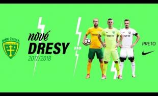 MŠK Žilina predstavil dresy na aktuálnu sezónu, novinkou je bielo-čierna tretia sada