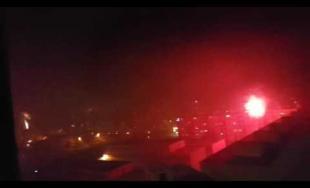 Oslavy príchodu nového roka - ohňostroje v meste 31.12.2016