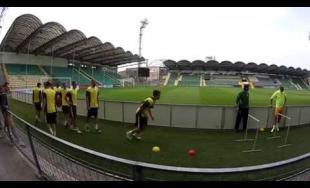 Tréning hráčov MŠK Žilina z trochu iného pohľadu