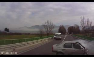 Video z čelnej zrážky pri obci Stráňavy 08.11.2016