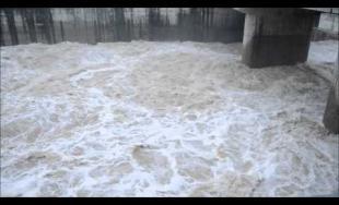 Vodné dielo Žilina - vypúšťanie nádrže