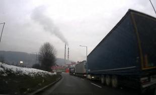 VIDEO: Na hlavných ťahoch v Žiline sú odstavené kamióny, štrajk môže pokračovať aj počas ďalších dní
